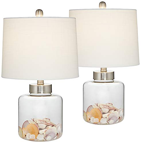 Glass Canister Small Fillable Accent Lamp Set of ()