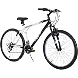 "Dynacraft Men's 26"" 21 Speed Alpine Eagle Bike, 18.5""/One Size, Black/White"