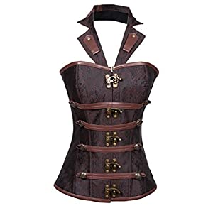 Alivila.Y Fashion Womens Steel Boned Retro Goth Steampunk Corset