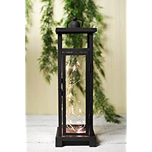 Lantern w/30 LEDs Square 15.5in Rust - Excellent Home Decor - Outdoor Indoor 103