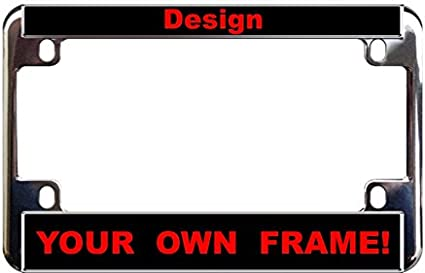 CUSTOM FONT MOTORCYCLE CUSTOM PERSONALIZED License Plate Frame COLOR