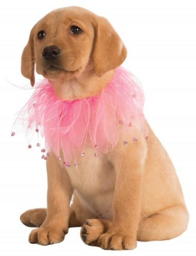 Rubie's 888596-L-XL Costume Co Fancy Pet Collar, Large, Pink]()