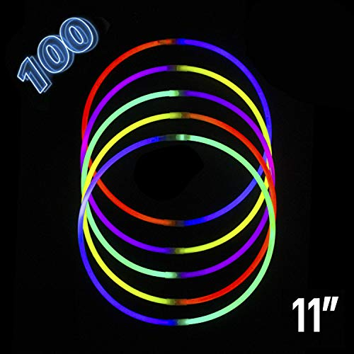 Glow Sticks | Glow in The Dark | Light Stick Bulk Necklaces Bracelet Party Supplies Favors Toys Glowsticks for Kids 100pcs 11 Inches -
