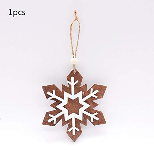 JEWH Christmas Wooden Pendants - DIY Wood Crafts Star&Heart - Xmas Tree Hanging Ornaments - Christmas Party for Kids - Gift Home Decorations (Stretch 8)