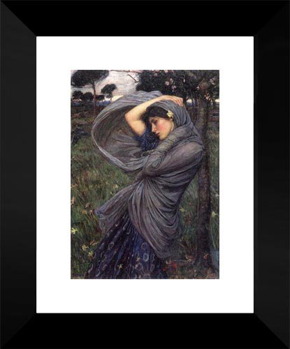 Boreas 15x18 Framed Art Print by Waterhouse, John William