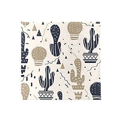 Bardic HNTGHX Outdoor/Indoor Chair Cushion Cactus Cacti Pattern Square Memory Foam Seat Pads Cushion for Patio Dining, 16