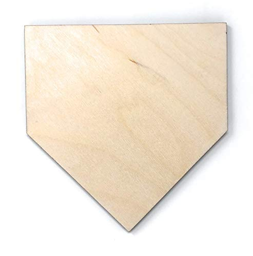 "Gocutouts 6"" Home Plate Cutouts Package of 12 Baseball Decor Cutouts (6"" Package of 12)"