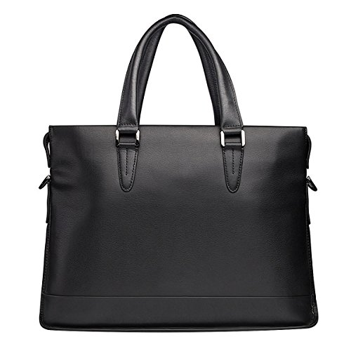 Real Leather Messenger Shoulder Bag Business Briefcase 13/14/15-inch Computer Laptop Carrying Case with Shoulder Strap