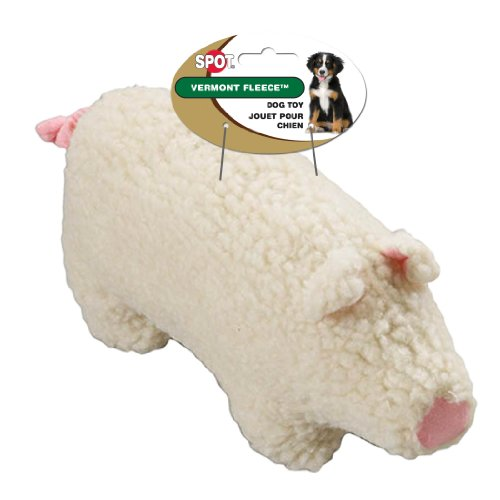 Ethical Pet Vermont Fleece Dog Toy, 6-Inch, Farmyard Animal,