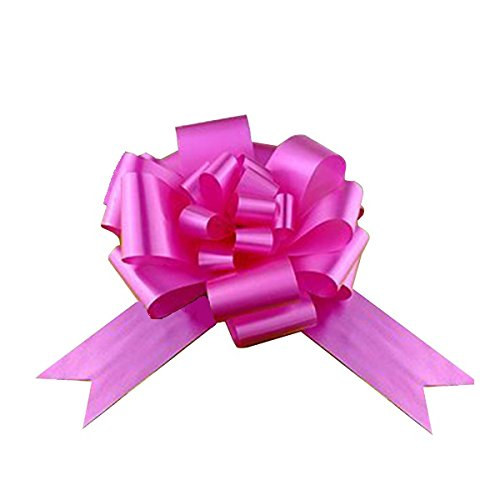 Large Fuchsia Pink Ribbon Pull Bows - 9