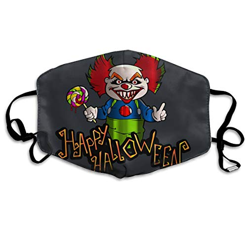 SDQQ6 Happy Halloween with Clown Mouth Mask Unisex Printed Fashion Face Mask Anti-dust Masks