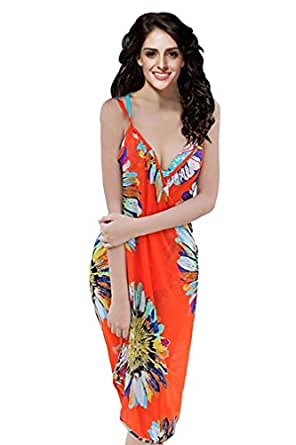Ninimour Women's Negril Beach Cover-up One Size (Red)