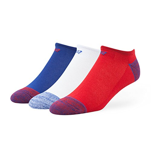 MLB Chicago Cubs Men's Blade Motion No-Show Socks (3 Pack), (Chicago Cubs Classic Cotton)