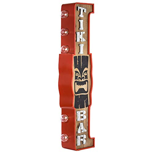 (American Art Decor Tiki Bar Vintage Double Sided Marquee LED Sign for Man Cave Bar Garage)