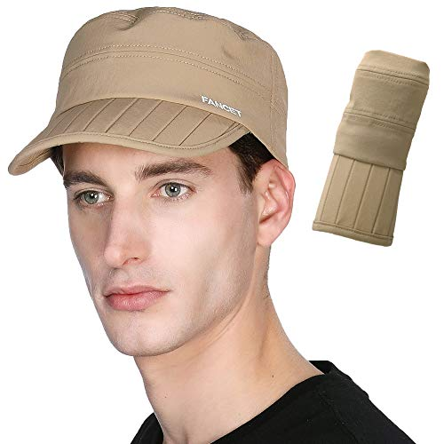 - Foldable Dad Military Hat Army Cadet Combat Mens Womens Field Radar Baseball Cap Outdoor Camping Hiking Hunting Khaki