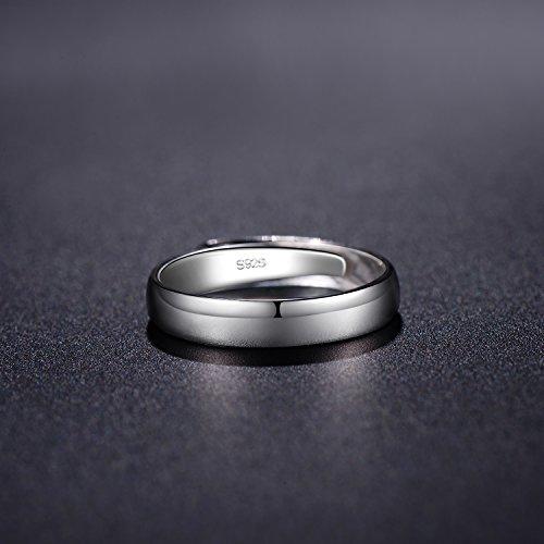 88d8b2092e1c Regalo Navidad Anillo Hombres de plata esterlina pulida para bodas ...