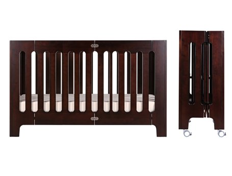 Amazon Com Bloom Alma Max Folding Crib In Cappuccino Baby