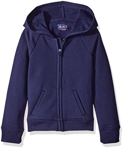 The Children's Place Little Girls' Uniform Hoodie, Tidal, Small/5/6