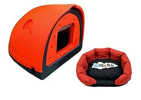 PetzPodz Perro Pod con Solapa Placa Frontal Insertar Large – Funda de plástico de Color Rojo