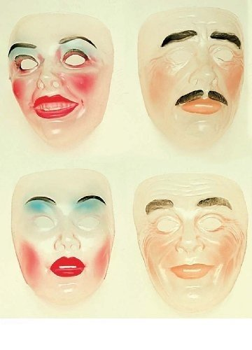 Transparent Face Mask New Years Party Masks Eyemasks & Disguises For -