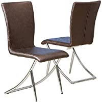 Best Selling Lauren Fayel Modern Chair, Brown, Set of 2