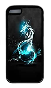 IMARTCASE iPhone 5C Case, Blue Dragon Durable Case Cover for Apple iPhone 5C TPU Black by lolosakes by lolosakes