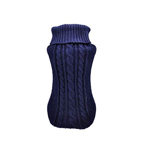 BiBaBoMax Pet Dog Cat Clothing Winter Autumn Warm Cat Knitted Sweater Jumper Puppy Pug Coat Clothes Pullover Knitted Shirt Kitten Clothes (Blue,S) -