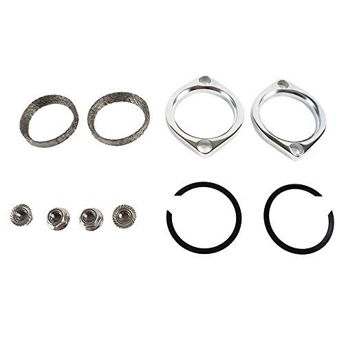 Exhaust Flange Gasket Kit C-Clips Nuts Washers for Harley Evo, Sportster, Twin Cam