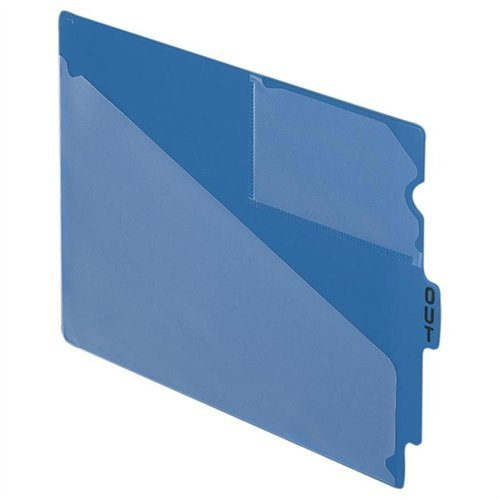 Esselte Recycled Colored Vinyl Out Guides - Printedout - 12.75 X 9.50 - 50 / Box - Blue Divider