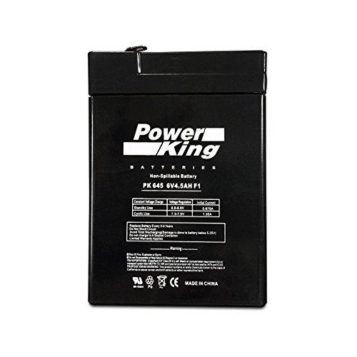 (Jiming JM-6M4.5AC 6V 5Ah Rechargeable Sealed Lead Acid Battery Beiter DC Power)