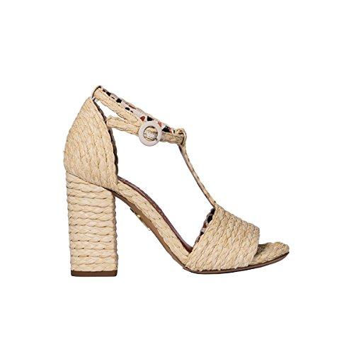 charlotte olympia Women's Janes164776101 Beige Jute Sandals