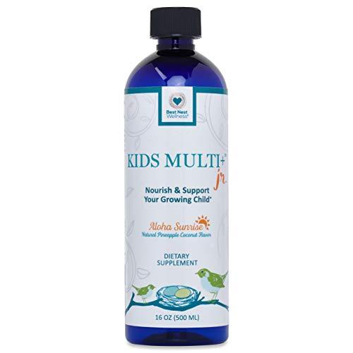 Best Nest Kids Liquid Multivitamin | Methylfolate (Folic Acid), Methylcobalamin (B12), 100% Natural Whole Food Organic Blend, Digestive Enzymes, Liquid Multi Vitamins, 16 oz Bottle, Best Nest Wellness