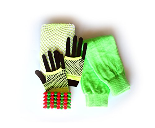 [80s Leg Warmers, Fishnet Stockings, Fingerless Gloves and Rock Bracelet] (Neon Party Outfits)
