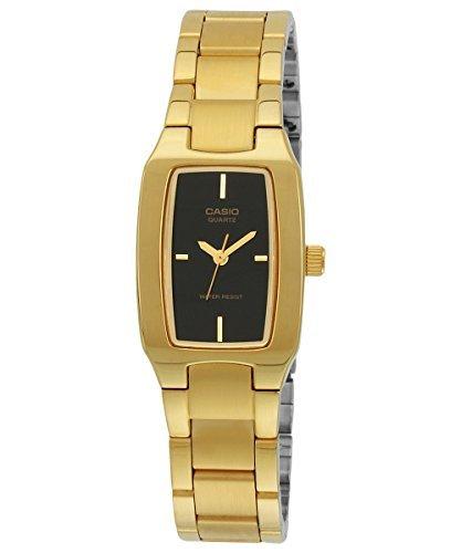 - Casio Women's LTP1165N-1C Gold Gold Tone Quartz Watch with Black Dial