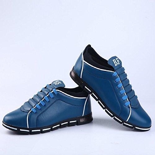 Oxfords Scarpa Style Pelle Uomo Elegante Scarpa Piedi Uomo Vestito Mocassini Pelle Scarpe Martin per Punta di British in Sintetica Scarpa Pelle Affari Blu Comfort 7xXwRx