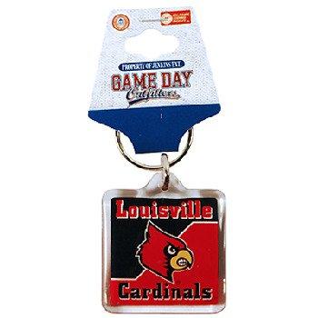 - NCAA Louisville Cardinals Lucite Logo Keychain