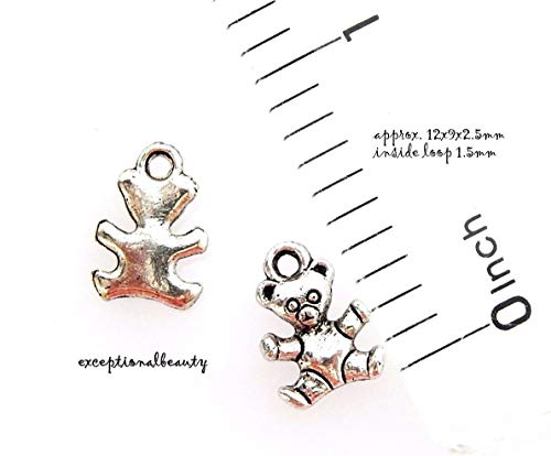 - Pendant Jewelry Making 10 Antiqued Tibetan Silver 12mm Teddy Bear Baby Toy Bead Drop Charms