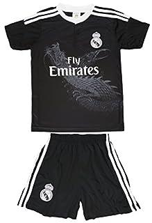 wholesale dealer 23ff8 62d0e 2014/2015 Real Madrid Kids RONALDO #7 All Black Away ...