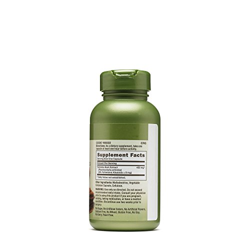 GNC Herbal Plus Yohimbe Extract 450 mg (100 Capsules) by GNC (Image #2)