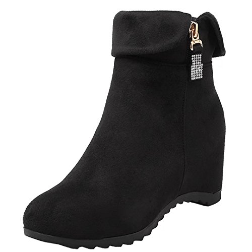 AIYOUMEI Women's Classic Boot Black nXUSQ