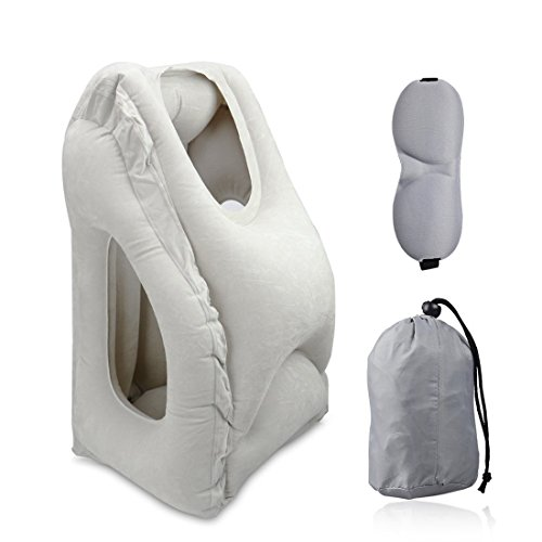 Travel Pillow, Portable Head Neck Rest Inflatable Pillow from HOMCA, Design for...