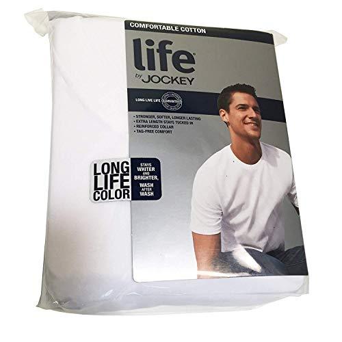 T-shirts A Life - Life by Jockey 3-Pack Mens Premium Cotton T-Shirts - White 100% Cotton (X-Large)