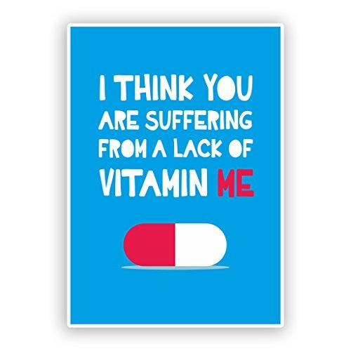 2 x 30cm/300mm Lack Of Vitamin ME! Funny Vinyl Stickers #7585