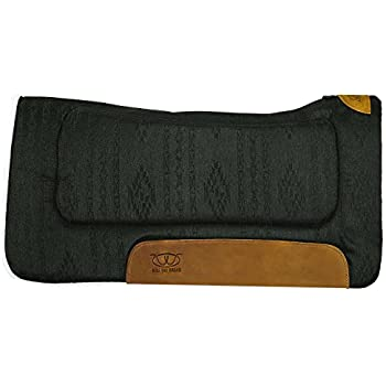 "Weaver Leather All Purpose 30"" x 30"" Contoured Saddle Pad with Felt Insert and Merino Wool Fleece Bottom, Black"