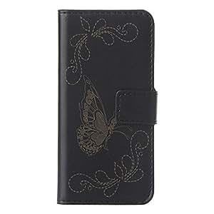 AES - Elegant Butterfly Pattern Full Body Case for iPhone 5/5S , Black