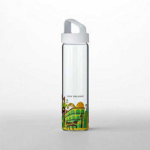 Starbucks You Are Here Collection Water Bottle - New Orleans 18.5 Fl Oz - New Orleans Glasses