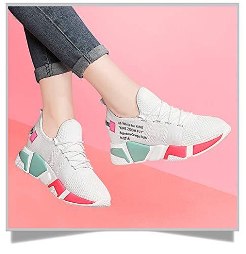 White Nuove Sportive Donna Confortevole Coreana Idoneità E Versione Delle Le Scarpe Corsa Respirabile Pezzi Da Syw Di aq1U5g