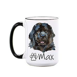 Newfoundland Dog Mug - Personalized Large 15 oz or 11 oz Ceramic Mugs - Dog Gifts for Dog Lovers - Pet Owner Gifts - Dog Coffee Cup - Dog Mom Mug - Dishwasher & Microwave Safe - Made In USA 1