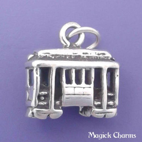 OutletBestSelling Beads Bracelet Sterling Silver 3-D Cable CAR San Francisco Trolley Charm Pendant