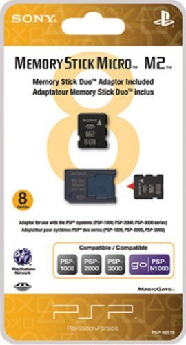 Sony PSP 8GB Memory Stick Micro with Adapter by Sony